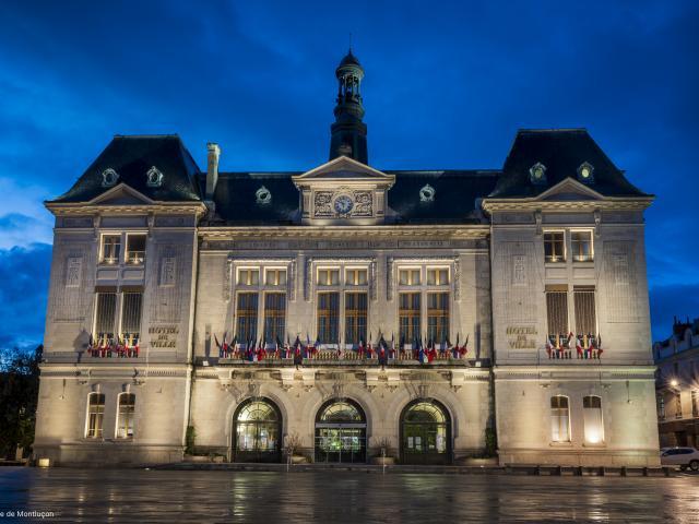 Hotel De Ville Montlucon Nocturne Parcours Lumiere 1