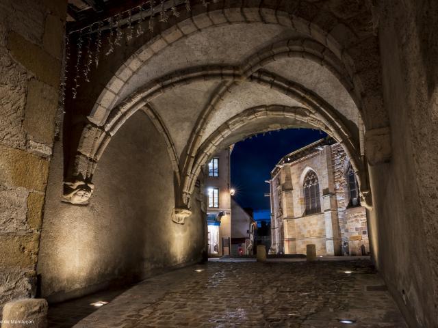 Passage Du Doyenne Montlucon Nocturne Parcours Lumiere 1
