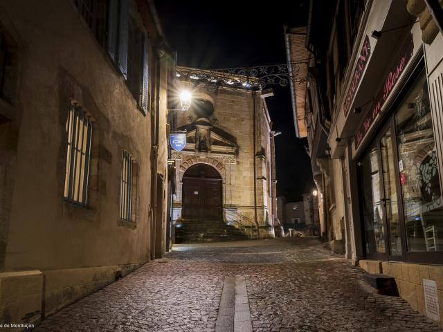 Rue De La Fontaine Montlucon Nocturne Parcours Lumiere 1