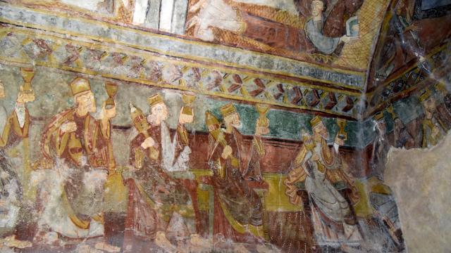 Fresque église St Martin de Fenollar Maureillas