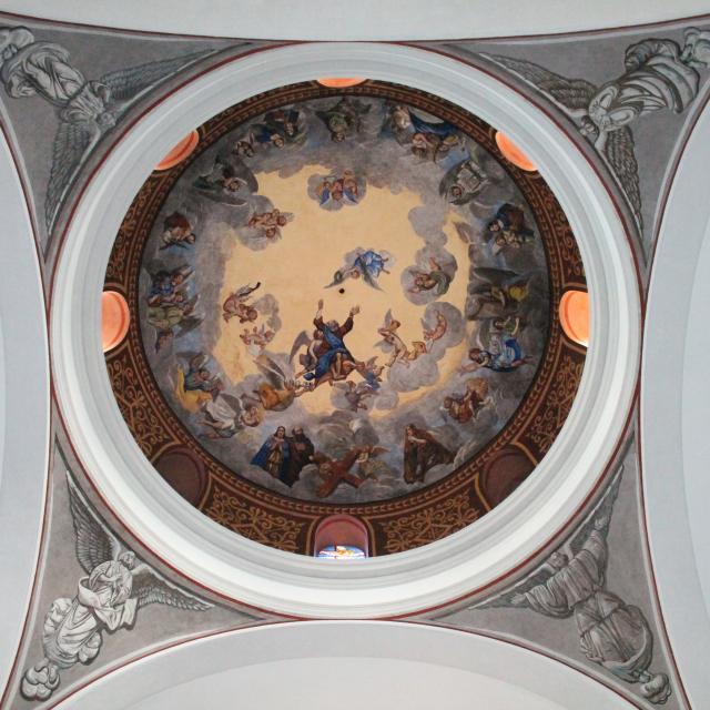 Intérieur Ceret Eglise