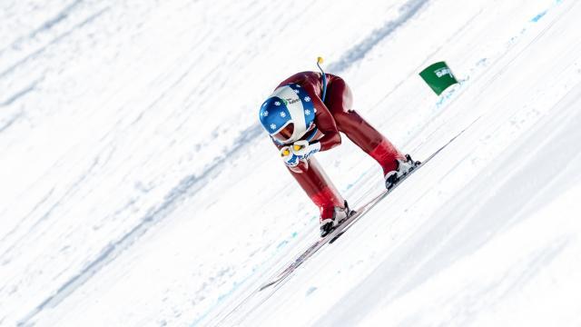 Valentina Greggio, sur la piste de Chabrières, piste la plus rapide du monde