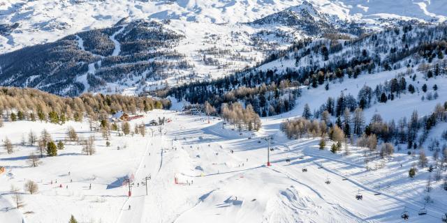 Domaine skiable de Vars et le snowpark de l'Eyssina