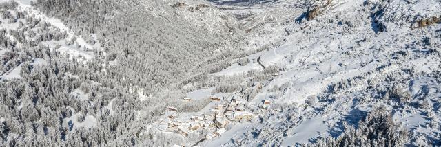 La vallée de Vars sous la neige