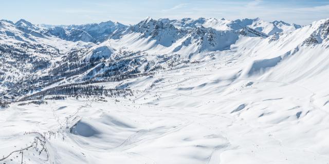 Panorama du domaine skiable de Vars