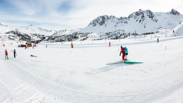 Kidpark, un snowpark accessible à tous pour goûter aux premières sensations de freestyle