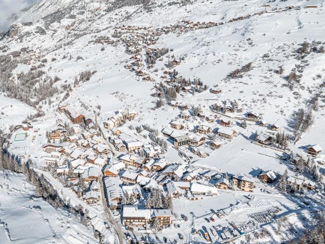 Vars Sainte Marie et Vars Sainte Catherine sous la neige