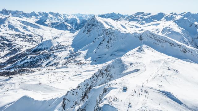 Sommet de Chabrières, point culminant du domaine skiable de la Forêt Blanche