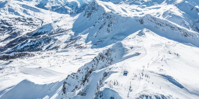 Point culminant du domaine skiable de Vars, la Forêt Blanche, 2750 m d'altitude