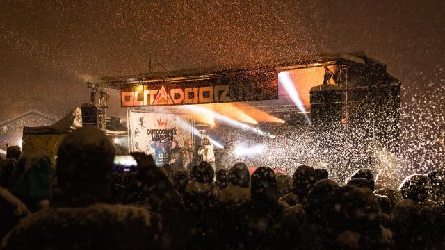 Concert sous la neige