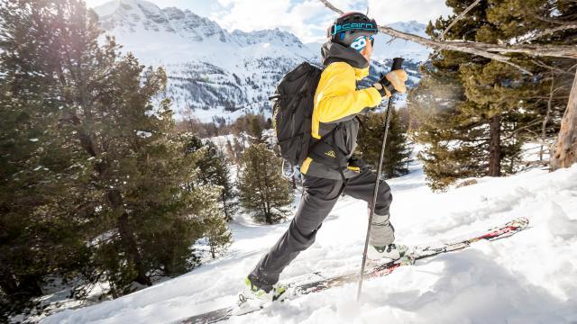 ski de randonnée sur un itinéraire sécurisé