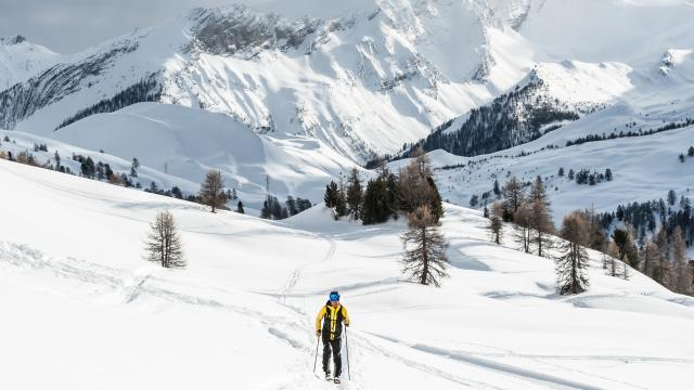 Ski de randonnée à Vars sur un itinéraires sécurisé