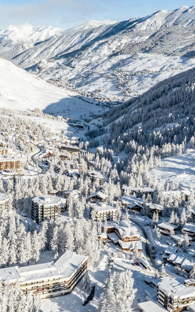 Vars et ses villages sous la neige