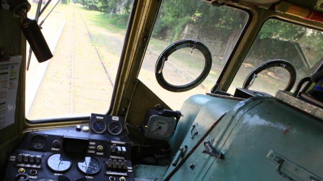 Cabine du train touristique de Thoré-la-Rochette