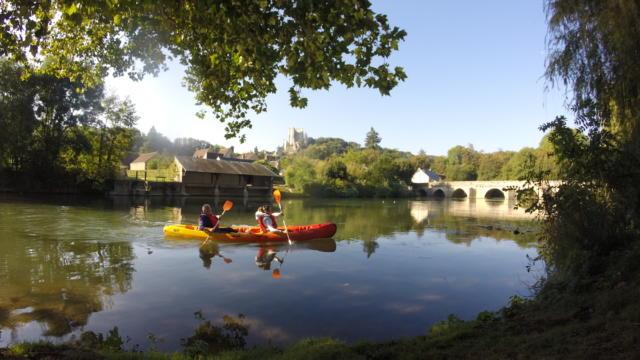 En canoe sur le Loir à Lavardin