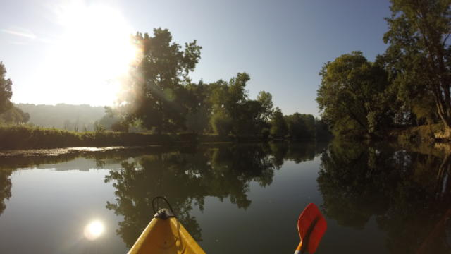 En canoe sur le Loir