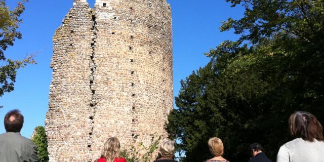 Visite guidée du château de Fréteval