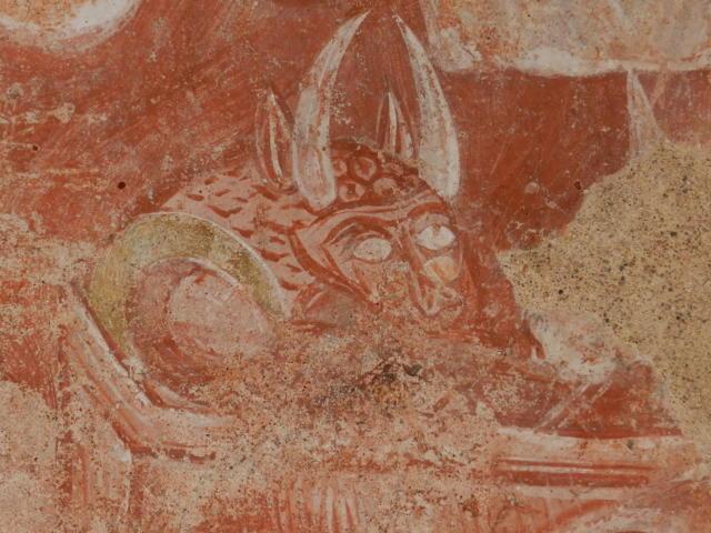 Fresques église Areines