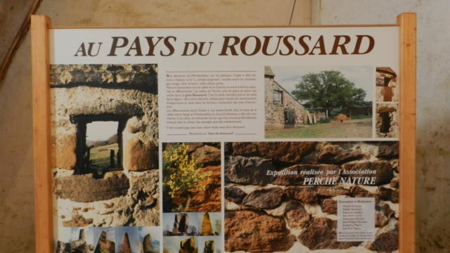 exposition Roussard- église Sargé Sur Braye