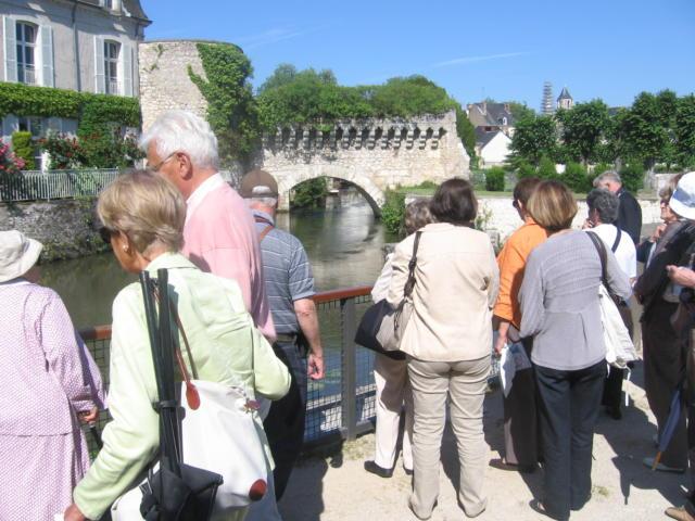 Groupe en visite à Vendôme
