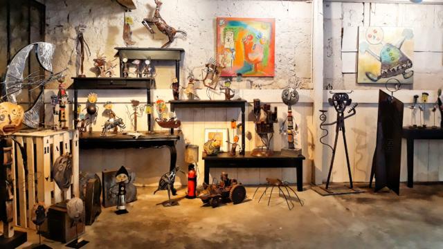 Exposition des oeuvres (peintures et sculptures) de Sophie Delpy et Giovanni Scarciello à Montoire-sur-le Loir