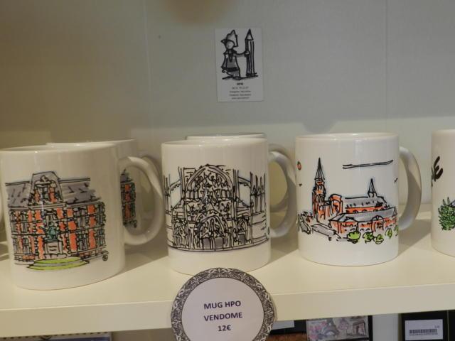 Mugs créés par H.P.O - Boutique Office de Tourisme à Vendôme