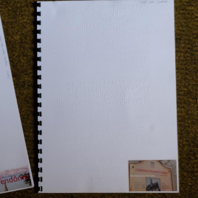 Livrets Braille à Vendôme