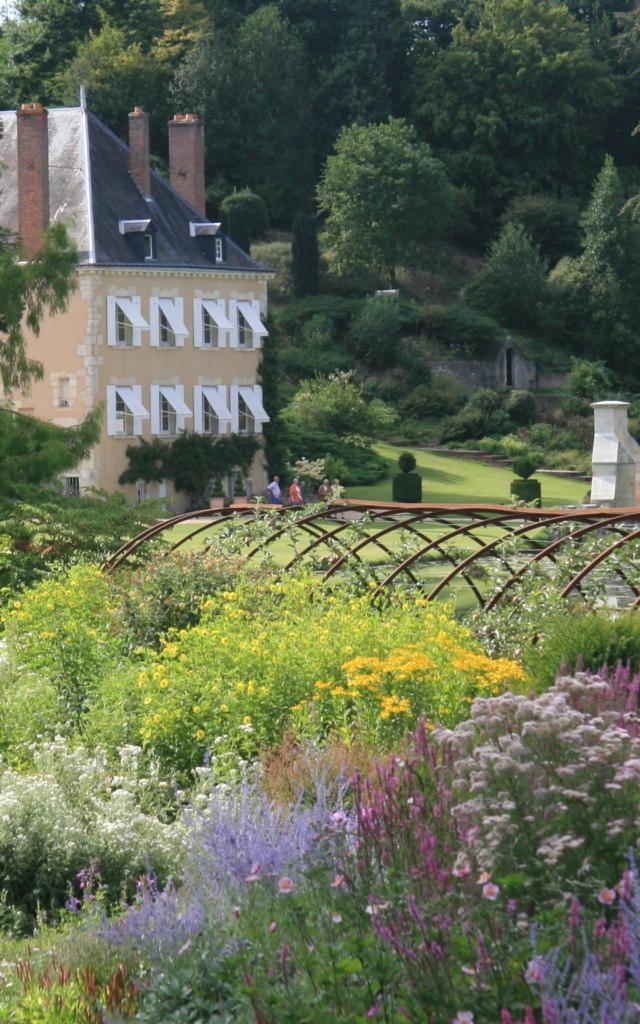 Vue sur le jardin du Plessis Sasnières