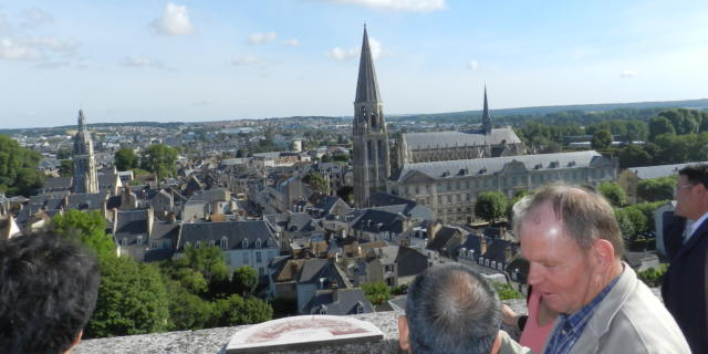 Vue sur Vendôme depuis le château