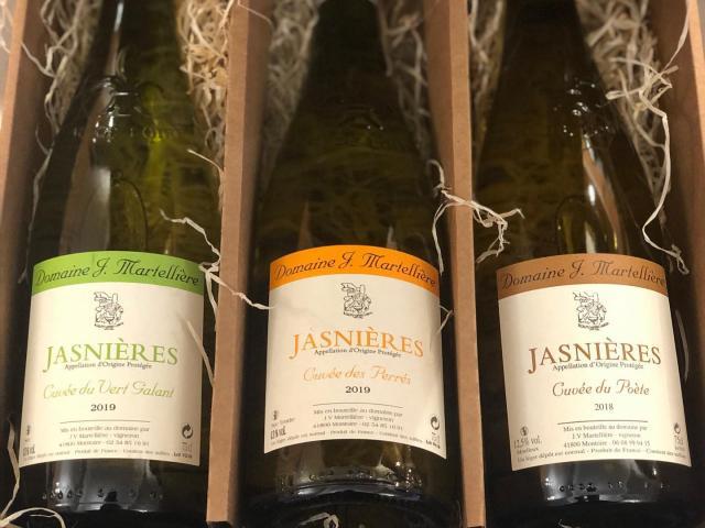 3 bouteilles de vin Martellière