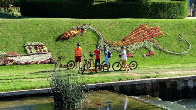 Balade Trottinette électrique Tout Terrain- pente des petits jardins à Vendôme