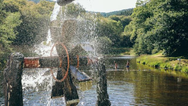 Moulin à eau de l'étang de Maurianges - Chaumeil
