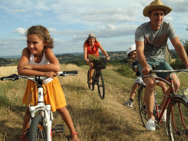Randonnée à vélo et en famille