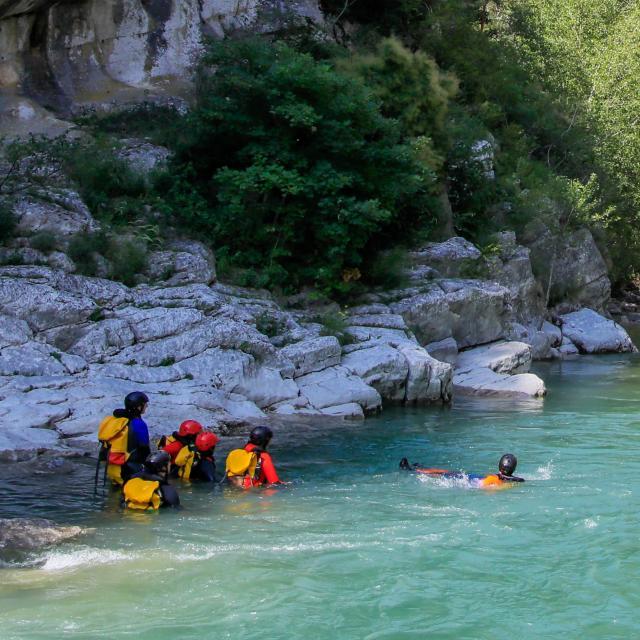 Floating dans le Verdon