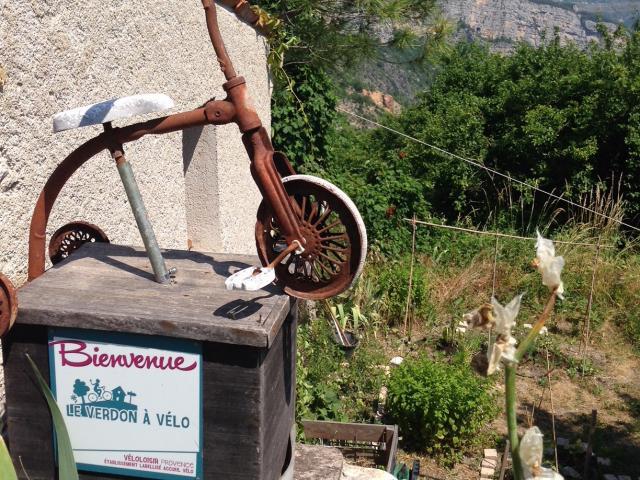Label accueil vélo à la crêperie le mur d'abeilles à Rougon