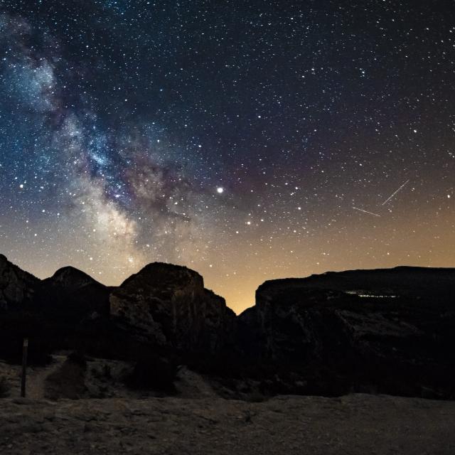 Gorges du Verdon, nuit étoilée