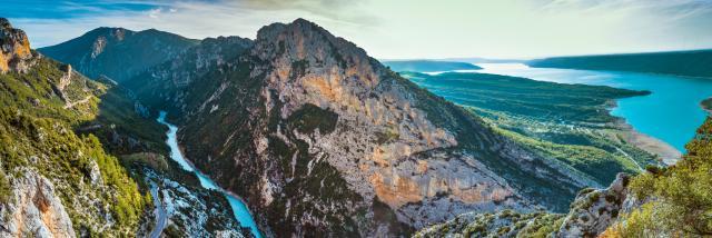Verdon, Gorges du Verdon, lac de Sainte-Croix, Panorama