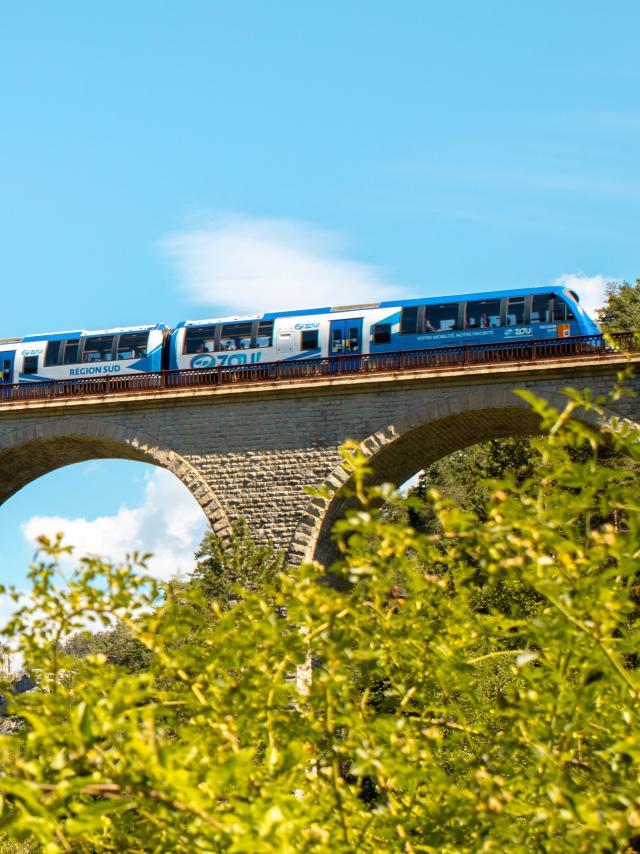 Trains des Chemins de Fer de Provence bleu