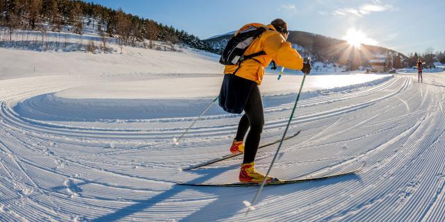 Ski de fond à la Colle-Saint-Michel, 04, Alpes-de-Haute-Provence, Paca, France, Europe //Europe,  France, Alpes-de-Haute-provence, 04, La Colle-Saint-Michel , Skiing