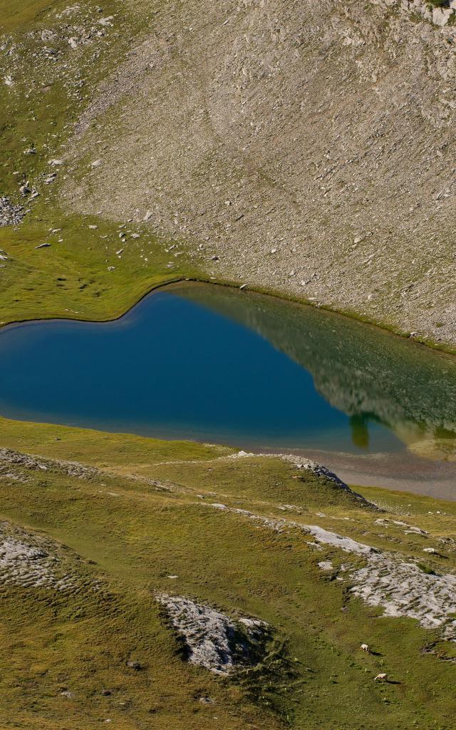 Lacs de l'Encombrette 2336 m, Allos,04, Alpes-de-Haute-Provence, Paca,  France // France,Paca, Alpes- de-Haute-Provence, Allos, Lacs de l'Encombrette 2336 m