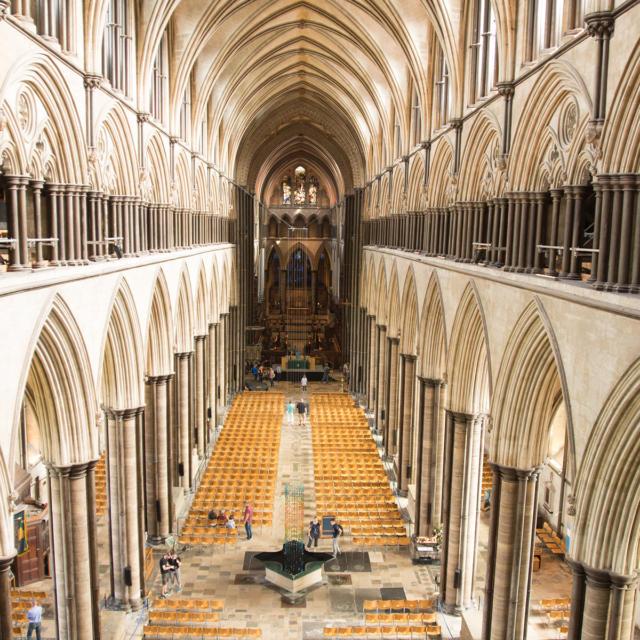 Ville jumelle - Salisbury Royaume-Uni - Intérieur Cathédrale de Salisbury