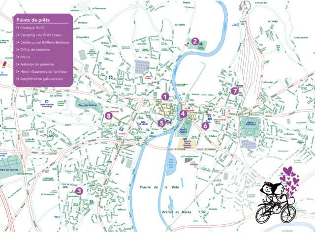 Vélodie prêt de vélo à Saintes
