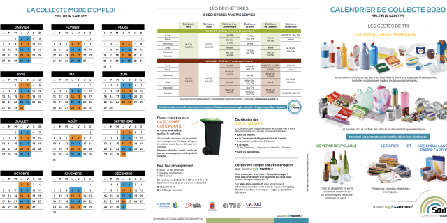 Calendrier Collecte Déchets 2020 (1)