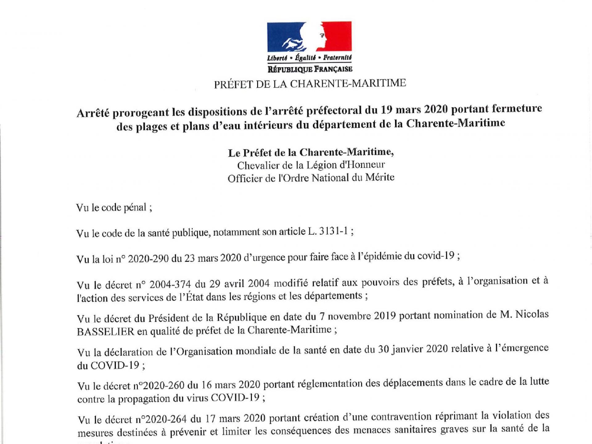 P017 20200415 Restriction De Circulation Plages Charente Maritime3 Page 0001