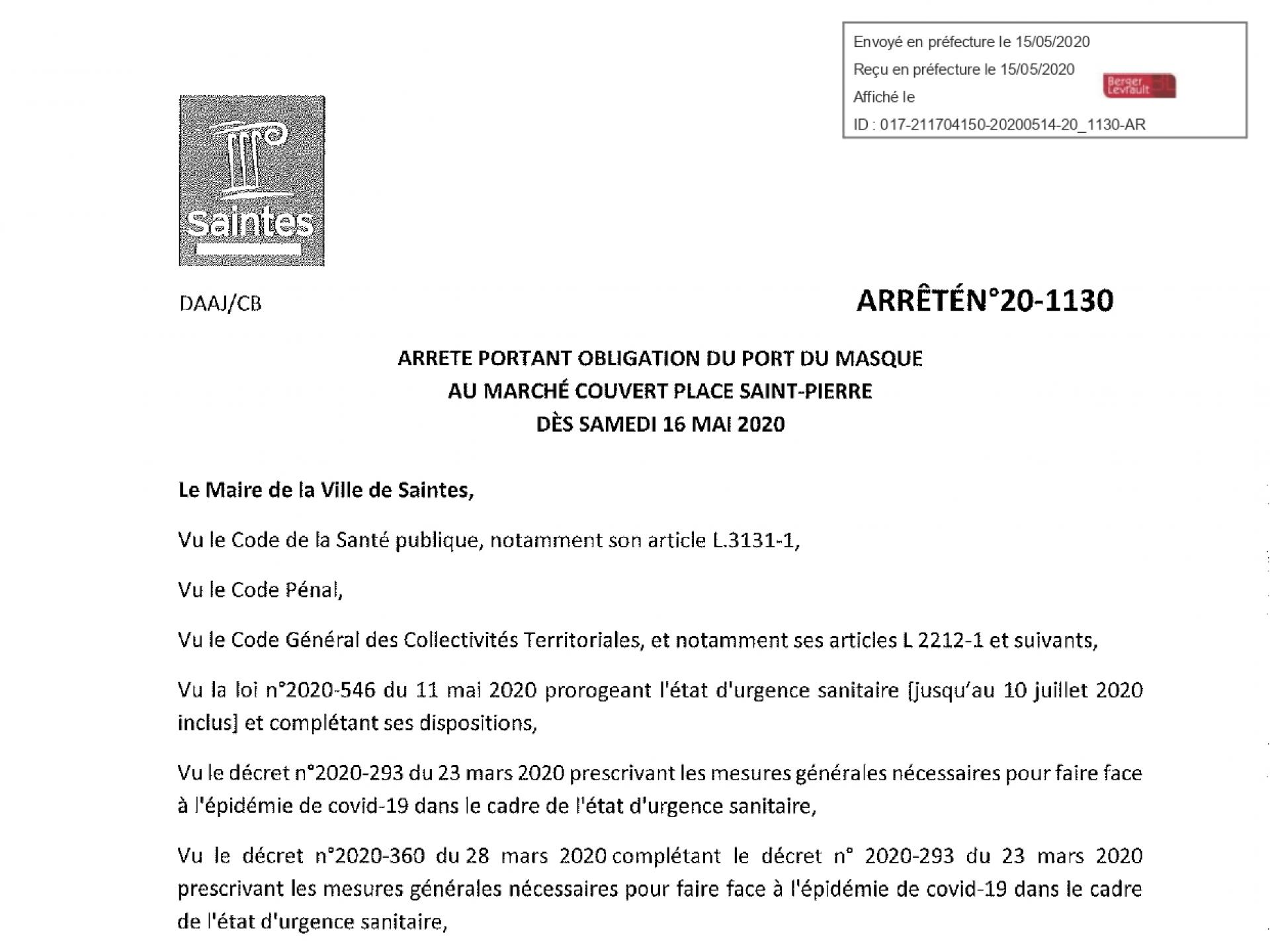 20 1130 Obligation Port Masque Marché St Pierre Page 0001
