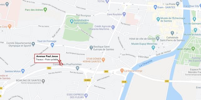 Carte Travaux Avenue Paul Josse