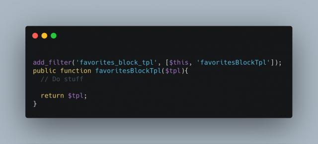Favorites Block Tpl