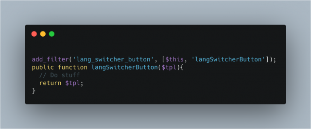 Lang Switcher Button