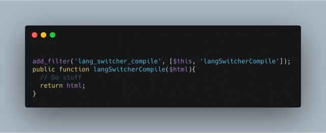 Lang Switcher Compile
