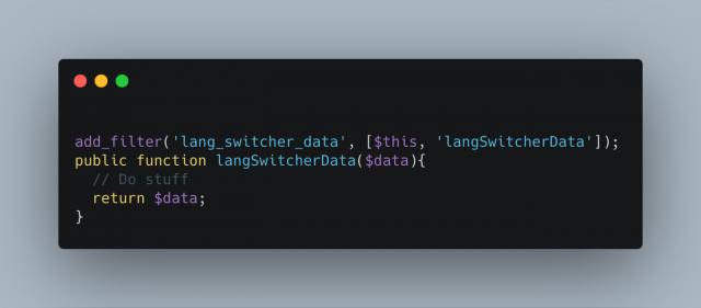 Lang Switcher Data